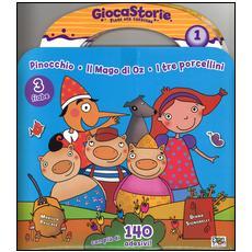 Giocastorie: Pinocchio-Il mago di Oz-I tre porcellini. Ediz. illustrata