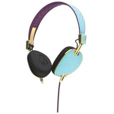 Navigator Cuffie On-Ear Mic3 colore Azzurro / Viola / Oro