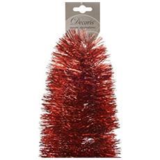 Frangia Decorativa per Albero di Natale Colore Rosso da 100 mm x 2.7 m