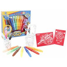 Blo Pens Super Wings Kit 10 Penne e 6 Stencil