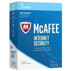 MCAFEE - Internet Security 2017 3 Utenti 1 Anno Versione Completa Lingua Italiano