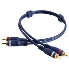 Cavo Audio C2G Velocity 80212 - 1 Pacco - RCA Maschio Audio - RCA Maschio Audio - Blu