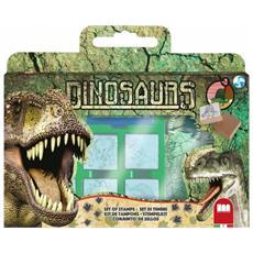 Valigetta Dinosauri con 7 Timbri e Pennarelli
