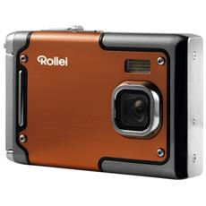 "Fotocamera Digitale Sportsline 85 Arancio Sensore CMOS 8Mpx Display 2.4"" Impermeabile fino a 3 Metri Filmati Full HD"