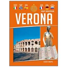 Verona map souvenir. Mappa e guida. Ediz. multilingue