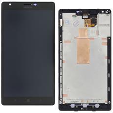 Ricambio Lcd Schermo Display + Touch Screen Unit Digitizer + Frame Nero Originale Nokia Per Lumia 1520 + Kit Attrezzi Smontaggio