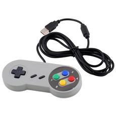 Controller Usb Joystick Joypad Compatibile Per Nintendo Windows Sf Snes Pc Rt Super Ness N-es Classic Wired Game