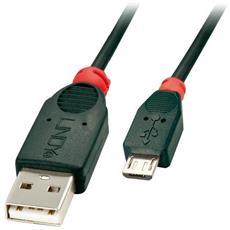 41801, USB A, Micro-USB B, Maschio / maschio, Dritto, Dritto, Nero