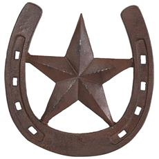 Ferro Di Cavallo In Ghisa L31,5xpr1xh29,5 Cm Finitura Ruggine Anticata