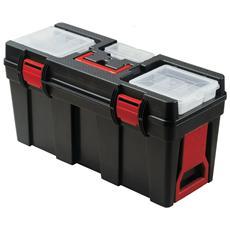 Cassetta portautensili in plastica con maniglia e ruote per il trasporto
