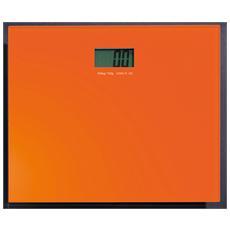 Bilancia elettronica in vetro in finitura arancio