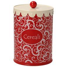 Barattolo Cereali Cm 14 H19 Rosso-mademoiselle Linea Dolce Casa