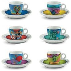 Set 6 Tazzine Da Caffè Calistini