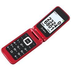 "Luna Senior Phone Rosso Dual Sim Display 2.4"" +Slot MicroSD con Tasti Grandi +Tasto SOS Bluetooth Fotocamera - Europa"