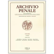 Archivio penale. Rivista quadrimestrale di diritto e legislazione penale speciale, europea e comparata (2014) . Vol. 2