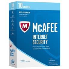 MCAFEE - Internet Security 2017 10 Utenti 1 Anno Versione Completa Lingua Italiano