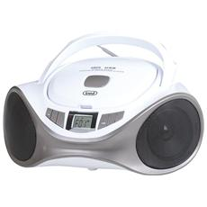 Stereo Portatile Boombox CMP 531 CD / Mp3 / USB / Aux-in Bianco