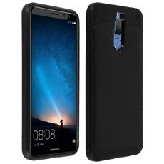 Cover Huawei Mate 10 Lite Antishock Morbida Flessibile Similpelle Nero