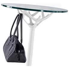 Tavolino In Acciaio Inox, Piano In Vetro Cicerone - Caimi (medio)