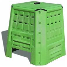Composter In Polipropilene Anti-Shock, Resistente Ad Ogni Temperatura, Cm. 80x80xh. 82