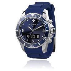 Smartwatch ZeClock Analogico Bluetooth Pedometro + Vivavoce - Blu