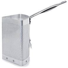 Scaldapasta Alluminio Con Gancio Per Cuoci Pasta Con 4 Spicchi
