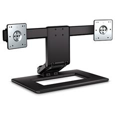 "Adjustable Dual Display Stand 24"" Nero"