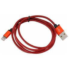 Cavo Lightning Di Stoffa Pucfbip1r 1 M Rosso