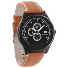 "Smartwatch QIN XW Prime II Display 1.22"" 64GB Bluetooth con Contapassi e Cardiofrequenzimetro Marrone - Europa"