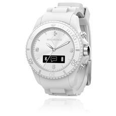 Smartwatch ZeClock Analogico Bluetooth Pedometro + Vivavoce - Bianco