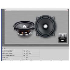 Midrange m132 canali centrali LOUDSPEAKER MID BASS soundmakers 130 mm