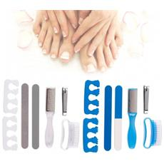 48764 Set Di 7 Pezzi Professionali Per Pedicure E Manicure Vanity Lux Kit - Bianco