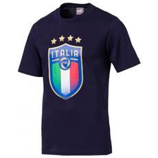 Figc Italia Badge Tee T-shirt Uomo Taglia Xl