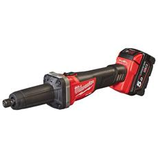 Smerigliatrice Diritta Milwaukee Fuel M18 Fdg-502x - 2 Batteria 18v 5.0ah - 1 Caricabatterie M12-18fc 4933459107