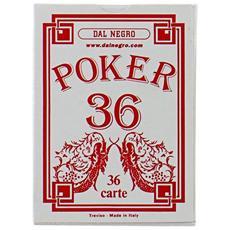 Carte Poker 36 Rosso 20100
