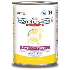 Cibo per cani Hypoallergenic Quaglia e Piselli 400 gr