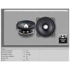 Midrange m102 canali centrali LOUDSPEAKER MID BASS soundmakers 100 mm