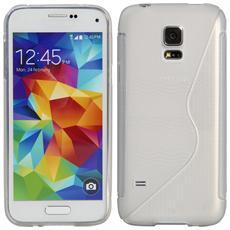 Cover Custodia Sline Silicone Tpu - Trasparente - Samsung Galaxy S5 Mini