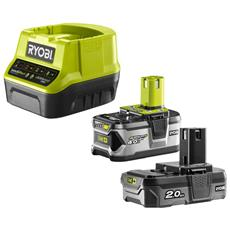 Battery Pack 2 Ryobi 18v 4.0ah E 2.0ah Oneplus - Quick Charger 2.0ah Agli Ioni Di Litio Rc18120-242