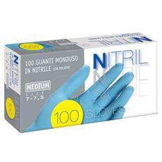 conf. 100 Guanti in nitrile MESN nitryl Pro M con polvere