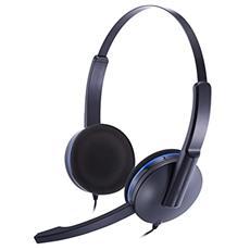 Cuffie Stereo con Microfono per Giochi Connessione Cavo Nera e Blu 1.2 m