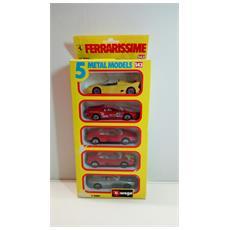 Modellino Auto - Set Da 5 Auto Ferrari - Scala 1:43