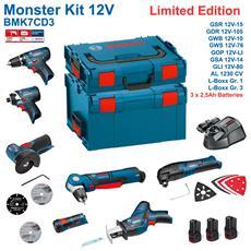 Kit Bmk7cd3 (gsr 12v-15 + Gdr 12v-105 + Gwb 12v-10 + Gws 12v-76 + Gop 12v-li + Gsa 12v-14 + Gli 12v-80 + 3 X 2,5 Ah + Gal1230cv + L-boxx 102 + L-boxx 238)