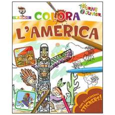 Colora l'America. Con stickers