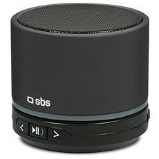 Speaker Audio Portatile Piper Bluetooth Slot SD Potenza Totale 3Watt colore Nero