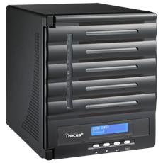 NAS N5550 5 Slot Diskless (Senza Dischi Inclusi) Interfacce 2 x Gigabit Ethernet / 1 x USB 3.0 / 4 x USB 2.0 / 1 x HDMI / 1 x VGA RAID 0, 1, 5, 6, 10, JBOD