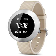 Band Impermeabile Waterproof con Display touchscreen OLED Wireless Bluetooth per Android 4.4+, iOS 7.0+ Crema - Italia