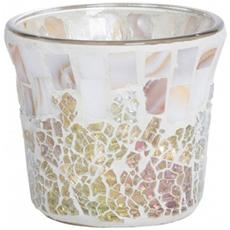 Porta Votive Gold And Pearl Crackle