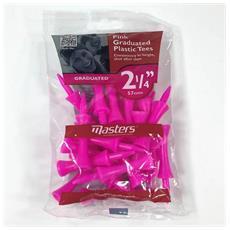 Plastic Graduated Tees 2-1/4 Pink