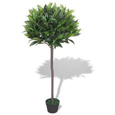 Albero Di Alloro Pianta Artificiale Con Vaso 125 Cm Verde